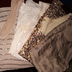 (4) Dressed up tanktops size xs